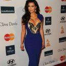 Kim Kardashian Dazzles at Clive Davis' Pre-GRAMMY Gala