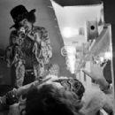 """Jimi Hendrix and Janis Joplin  Jimi Hendrix filming Janis Joplin backstage at Winterland Ballroom in San Francisco, 1968"""" - 454 x 298"""