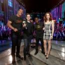 Dwayne Johnson, J.J. Abrams, Kevin Hart and Daisy Ridley At The 2016 MTV Movie Awards (April, 10, 2016) - On Stage - 454 x 307