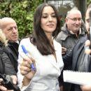 Monica Bellucci – Arriving at Vivement Dimanche TV show in Paris - 454 x 663