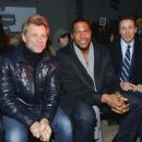 Jon Bon Jovi, Michael Strahan & Chris Cuomo attend the Kenneth Cole collection fashion show on February 10, 2014 in NYC