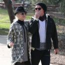 Gwen Stefani and her husband Gavin Rossdale take their sons Kingston and Zuma to a birthday party in Los Angeles, California on December 8, 2012