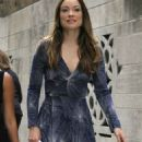 Olivia Wilde On The Set Of Hbo Rock Roll Show In Ny