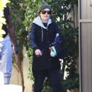 Ellen Page is seen leaving the gym after a workout in Los Angeles, California on December 29, 2014