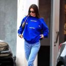 Kendall Jenner – Stops by Kate Somerville in West Hollywood