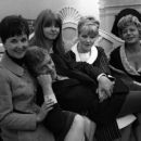 Michael Caine with his Alfie co-stars (L-R) Vivien Merchant, Jane Asher, Julia Foster and Shelley Winters
