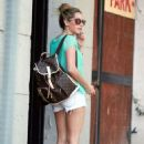 Ashley Tisdale out getting a facial in L.A. (August 16)