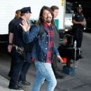 Dave Grohl on the 'Late Show With David Letterman' in New York City, New York on May 20, 2015.