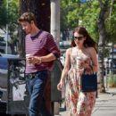 Emma Roberts in Summer Dress in Los Angeles