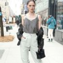 Coco Rocha attends Longchamp during New York Fashion Week 2020