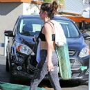 Shenae Grimes at a Yoga Class in Los Angeles, December 2015