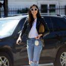 Jessica Gomes – Arriving at a friend's Memorial Day barbecue in LA - 454 x 628