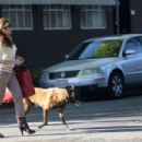 Eva Mendes: walks the middle of the street while out in West Hollywood