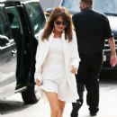 Lizzie Cundy – All in white spotted outside the London ITV Studios - 454 x 675