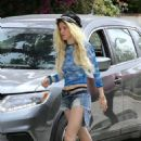 Bella Thorne in Cut-offs out in Los Angeles