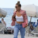 Nina Agdal on the beach in Miami