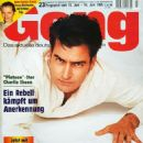 Charlie Sheen - Gong Magazine Cover [Germany] (10 June 1995)