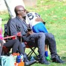Seal is seen watching his kids Leni, Henry and Johan play soccer in Brentwood, California on January 31, 2015 - 454 x 518