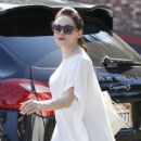 Birthday girl Rose McGowan out and about in West Hollywood, California on September 5, 2013