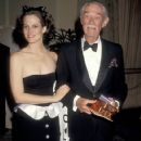 Sigourney Weaver and her father during The 59th Annual Academy Awards (1987)