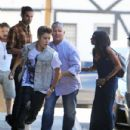 Justin Bieber enjoyed lunch at a local Sushi restaurant in Toluca Lake, California June 29,