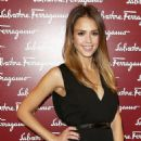 Jessica Alba: attend the launch of the Salvatore Ferragamo flagship store on Old Bond Street in London