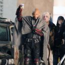 Will Smith and Margot Robbie On The Set Of Suicide Squad In Toronto