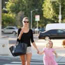 Alessandra Ambrosio: gets her nails done in Brentwood