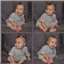 Kim Kardashian posted an adorable four-way picture of North on her Twitter page on Friday 1/17/14