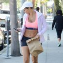 Nicole Murphy in Shorts and Sports Bra out in Los Angeles - 454 x 681
