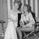 Actress Doris Fesette visits Virginia Mayo on the set of The Best Years of Our Lives, 1946 - 454 x 575