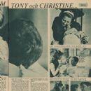Christine Kaufmann and Tony Curtis - Bild Journalen Magazine Pictorial [Sweden] (12 December 1962) - 454 x 537