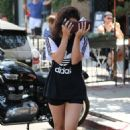 Vanessa Hudgens Leaving Alfred Coffee in West Hollywood July 13 2016