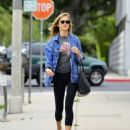 Emily VanCamp in Tights out in Los Angeles - 454 x 533