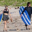 Diane Kruger and Norman Reedus on the beach in Costa Rica