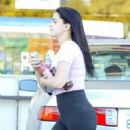 Ariel Winter in Spandex at a gas station in LA