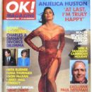Anjelica Huston - OK! Magazine Cover [United Kingdom] (December 1993)