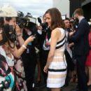 Rose Byrne: at the Lexus Design Pavillion on Melbourne Cup Day at Flemington Racecourse