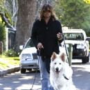 Billy Ray Cyrus takes his dogs out for a relaxing stroll through his neighborhood in Toluca Lake, California on April 4, 2014 - 447 x 594