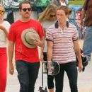 Bar Rafaeli with Shaun White at the skate park in Venice Beach, California (June 28