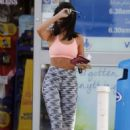 Michelle Keegan in Sports Bra and Leggings in Essex - 454 x 668