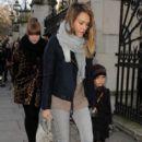 Jessica Alba: taking her daughter ice-skating in London