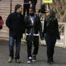 Amber Rose and Kanye West visit the Vatican and Saint Peter's Square in Rome, Italy - November 10, 2009