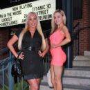 """Mary Carey, Garry """"Prophecy"""" Sun, and Paula Labaredas at the premiere of """"With Great Power: The Stan Lee Story"""" in Pasadena"""
