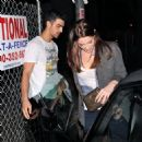 Ashley Greene and Joe Jonas were spotted getting a bite to eat at the Urth Cafe (February 24)