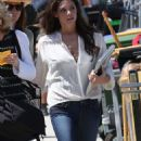 Ashley Greene spends her afternoon hard at work and play on the set of 'The Apparition' filming in LA ,on March 29 2010