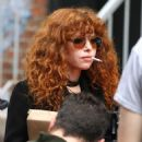Natasha Lyonne and Annie Murphy – Russian Doll set in Soho - 454 x 493