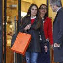 Jordana Brewster is all smiles after doing some holiday shopping at the Hermes counter at Barney's New York in Los Angeles