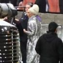 Lady Gaga – Arrives at the Elton John concert in Los Angeles