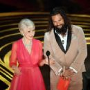 Helen Mirren and Jason Momoa At The 91st Annual Academy Awards - Show - 454 x 319